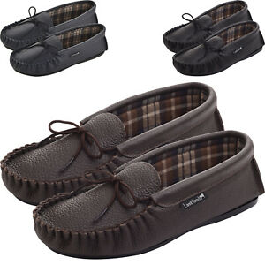 Leather-Moccasin-Slippers-UK-Made-for-Men-and-Ladies-Cotton-Lining-by-Lambland