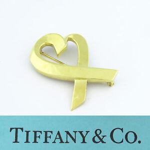 1a7ed1b64a0 NYJEWEL Tiffany   Co. 18K Yellow Gold Paloma Picasso Loving Heart ...
