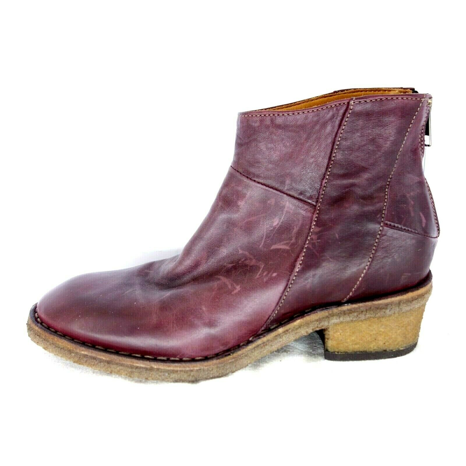 Uit ou Meda Femmes Chaussures Bottines Bottes 0994 38 39 Cuir Rond Np 239