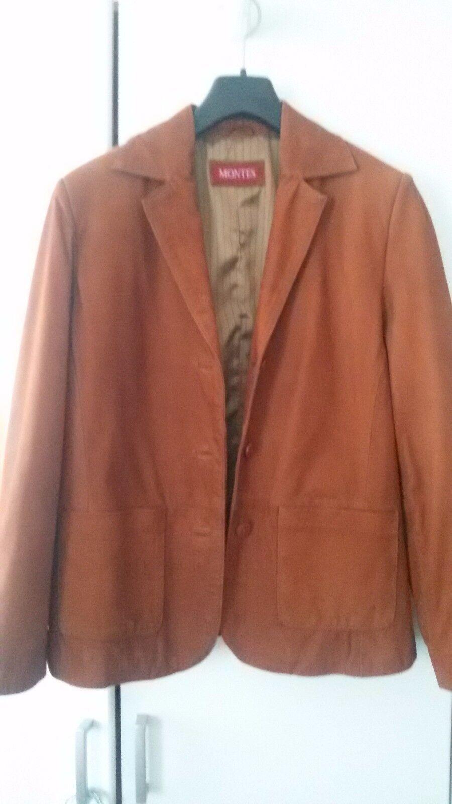 Damenjacke, 100 % Leder, Gr. M, braun, MONTES, guter Zustand, NP 249,90