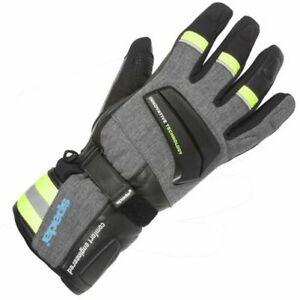 Spada-Latour-Gants-Moto-Cuir-Noir-Touring-Blinde-Haute-Visibilite-Impermeable