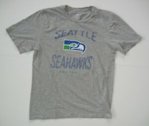 check out 01af6 b31e0 Retro SEATTLE SEAHAWKS Old School Logo Gray NFL FOOTBALL T ...