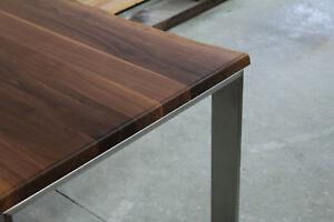 Das Bild Wird Geladen Designer Esstisch Nussbaum Massiv  Holz NEU Tisch Beistelltisch