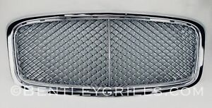 Bentley-GT-GTC-Flying-Spur-Kuehlergrill-Rahmen-Grille-MANSORY-Chrom-Grills