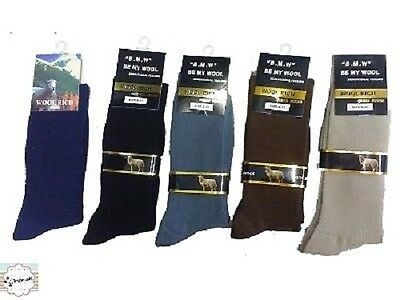 MENS Merino Wool Blend Dress SOCKS sz 6-11, 11-14 Mixed Colours