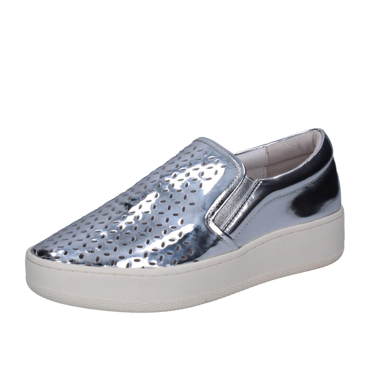 Women's shoes UMA PARKER 9 9 9 (EU 39) slip on silver leather BT564-39 9103bd