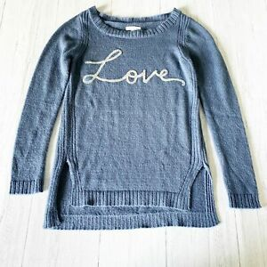 Lauren-Conrad-Fuzzy-Blue-LOVE-Long-Sleeve-Sweater