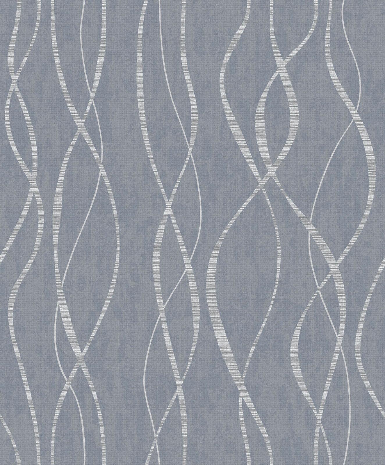 Essener Tapete Spécial Fx G67720 Vague Lignes Ondulées Vinyle Papier-Peint
