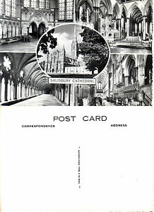 1960-039-s-MULTI-VIEWS-OF-SALISBURY-CATHEDRAL-SALISBURY-WILTSHIRE-UNUSED-POSTCARD