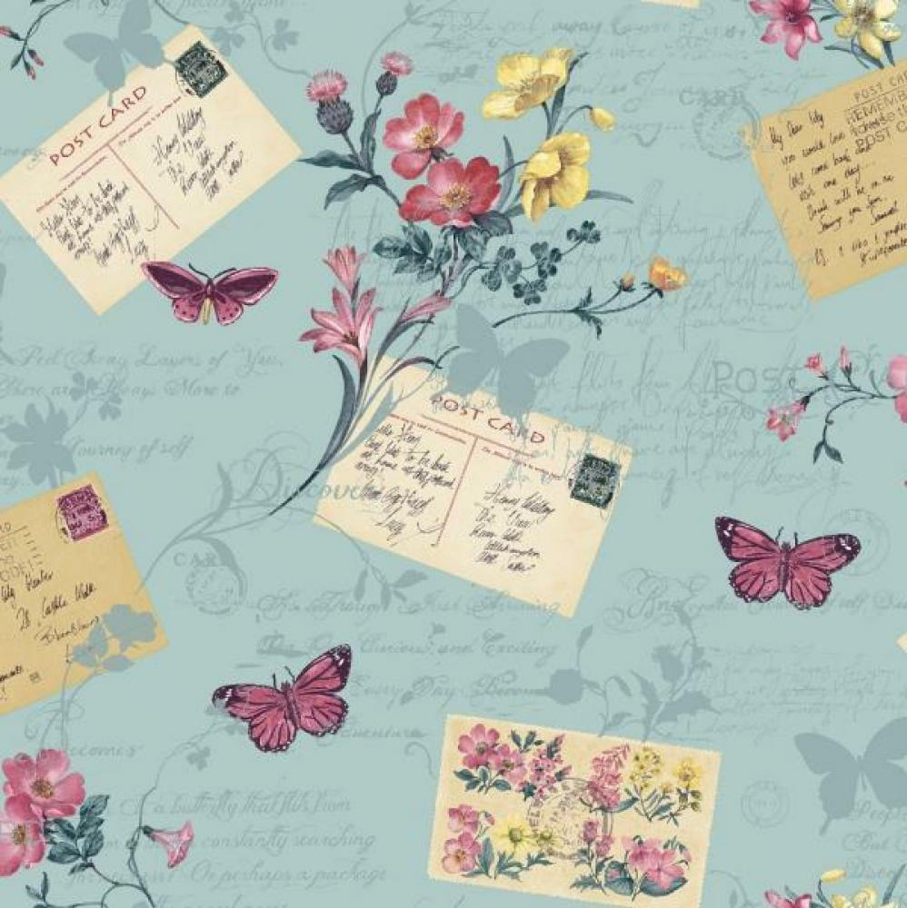 ARTHOUSE SOPHIE CONRAN POSTCARDS HOME FLORAL BUTTERFLY MOTIF WALLPAPER 950902