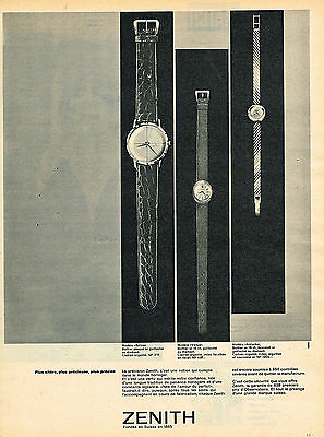 Collectibles Other Breweriana Dynamic Publicite Advertising 124 1961 Zenith Collection Montres Rich In Poetic And Pictorial Splendor