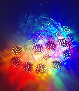 3M-20-LED-RGB-Small-Ball-LED-String-Christmas-Wedding-Party-Fairy-Lights