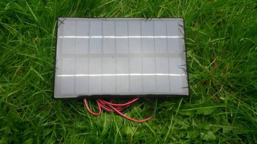 BAIT BOAT SOLAR PANEL CHARGER,4.2W,TAMIYA CONNECTOR, 6V & 7.2V BAITBOAT BATTERY