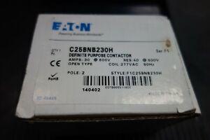 Eaton-Definite-Purpose-Contactor-C25BNB230H-30-A-600V-Two-Pole-New-in-Box