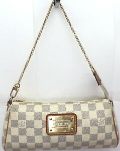 8f050978a5c8 Image is loading AUTHENTIC-Louis-Vuitton-Eva-Damier-Azur-Clutch-Cross-