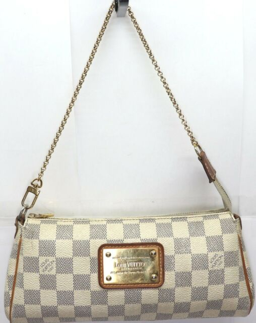 3bb19c0f2476 Louis Vuitton Eva Clutch Damier Azur Crossbody Bag for sale online ...