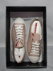 prada leather sneakers womens