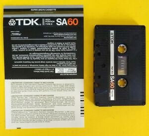 MC-Musicassetta-TDK-SA60-sa-60-vintage-compact-cassette-tape-USATA-no-agfa-basf