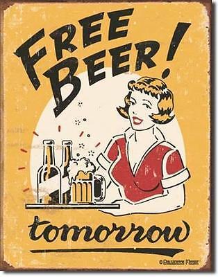 Bello Birra Libero Domani-usa Vintage Style Metallo Bar Decorazione Scudo Manifesto- Prezzo Pazzesco