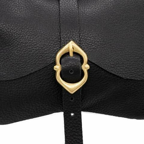 Black Mythrojan Leather Medieval Pirate Hip Pouch Larp Cosplay Coin Purse Bag