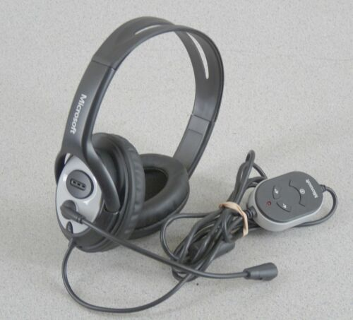 Microsoft LIFECHAT LX-3000 Computer Headsets w Microphone USB Powered Free Ship