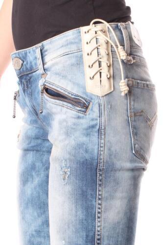 Moderne Damen Jeans REPLAY WX601P 335 179 011 Akram Blauer Denim