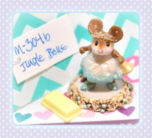 Wee-Forest-Folk-M-304b-Jingle-Belle-Bell-Girl-Mouse-Holiday-Christmas-WFF