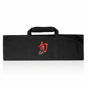 Shun-8-Pocket-Slot-Knife-Storage-Roll-Bag-Luggage-Black