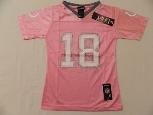 Wholesale M60 New REEBOK Indianapolis Colts Peyton Manning Pink Glitter Jersey