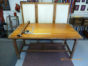 Charmant ... VINTAGE K Amp E HUDSON LARGE DRAFTING TABLE
