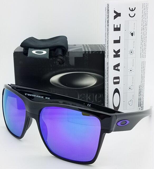 48a06cec5ed NEW Oakley Twoface XL sunglasses Black Violet Iridium 9350-04 purple  AUTHENTIC