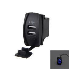 Auto Boot Car SUV Backlit Rocker Switch 12V-24V Dual Blau LED USB Ladegerät