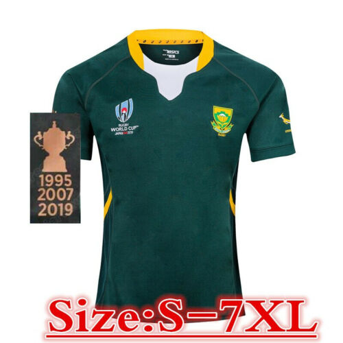 SOUTH AFRICA RUGBY RWC2019 Champion HOMEJERSEY size S-7XL Print custom Name /& No