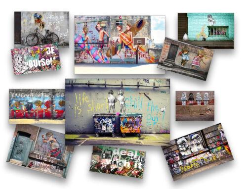 street art stencil boy cape wall decor canvas print COA authentic by andy baker
