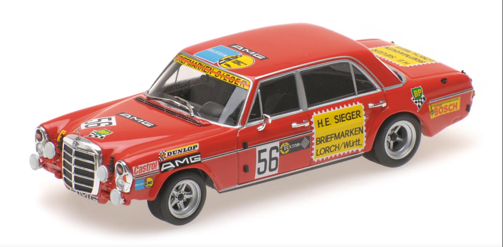 1 43 Mercedes SEL Heyer Nurnberg 1972  • Minichamps 400723456