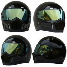 Full Face Motorcycle Helmet Mask Racing Street Large Medium Small Black Protect