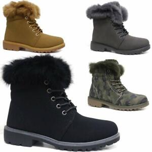 WOMENS ANKLE DESERT TRAIL LADIES WINTER LACE UP COMBAT WALKING BOOTS SHOES SIZE