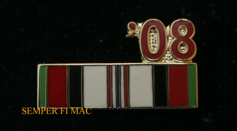 US USA /'01 Afghanistan Service Ribbon Military Hat Lapel Pin