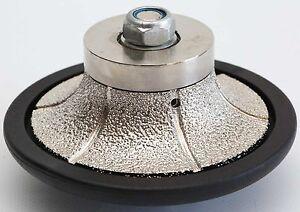1 1/4 Inch B-Shape Diamond Hand Profiler/Router Bits for Granite 30mm Round Over