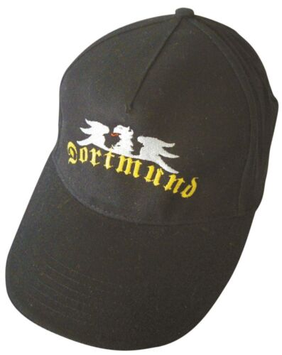BASEBALLCAP CAP BERRETTO schirmmuetze muetze NERO CON STICK Dortmund 68888