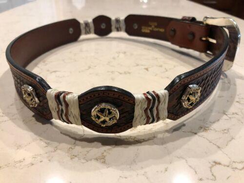 Women/'s Genuine Leather Western Belt Men/'s