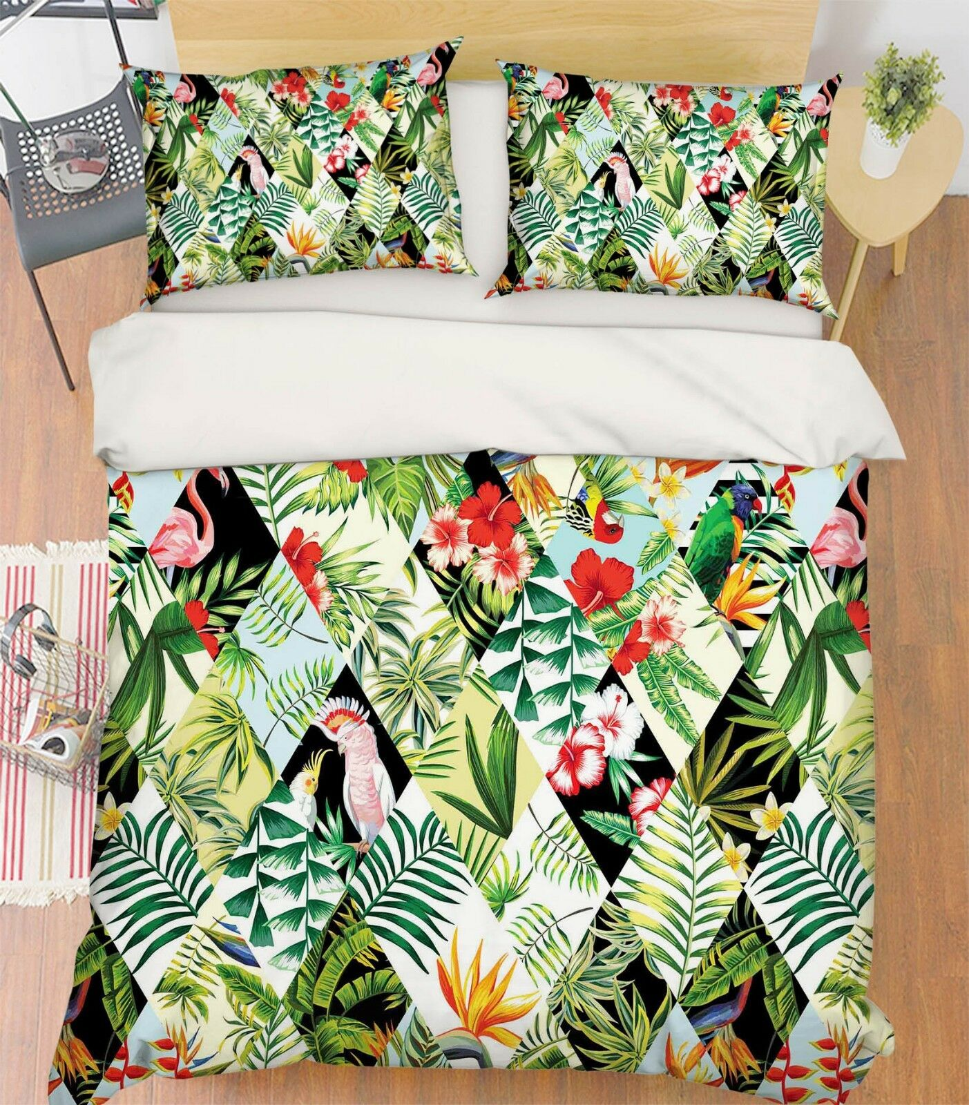 3D Painted Leaves 968 Bed Pillowcases Quilt Duvet Cover Set Single Queen King CA