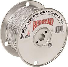 RED BRAND 85612 17 GAUGE 1/4 MILE LENGTH GALVANIZED ELECTRIC FENCE WIRE 3407491