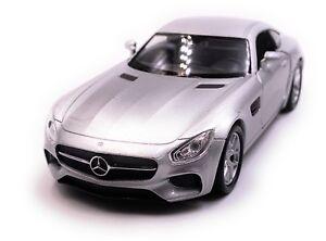 MERCEDES-Benz-AMG-GT-auto-modello-Auto-Sportiva-Auto-Argento-Scala-1-3-4-con-licenza