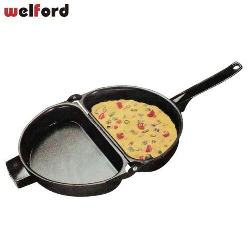 Double Côté Non-Stick Pliable Omelette Poêle Pliable Pot Cuisine Fer Grill