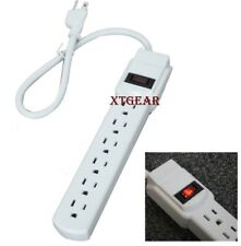 New 6 Grounded Outlet Power Strip Surge Protector 1.6 ft 14/3 AWG UL LISTED