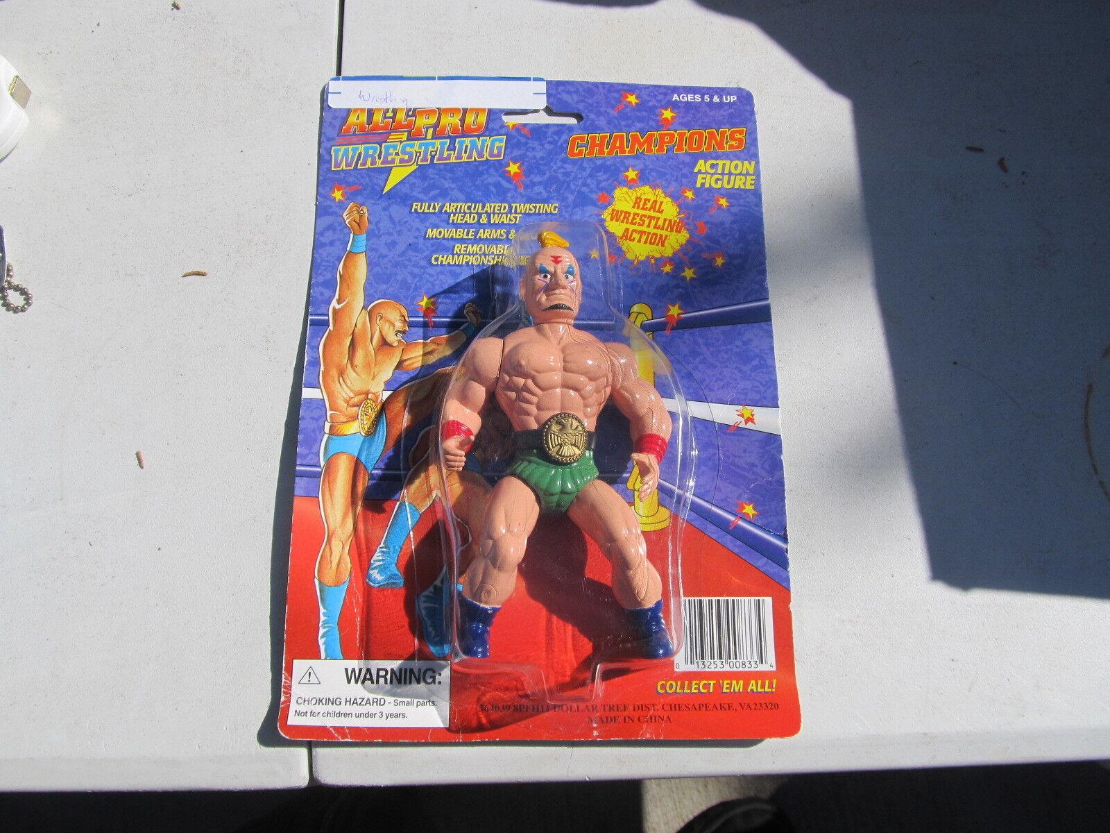All Pro Wrestling Champions figure MINT ON CARD