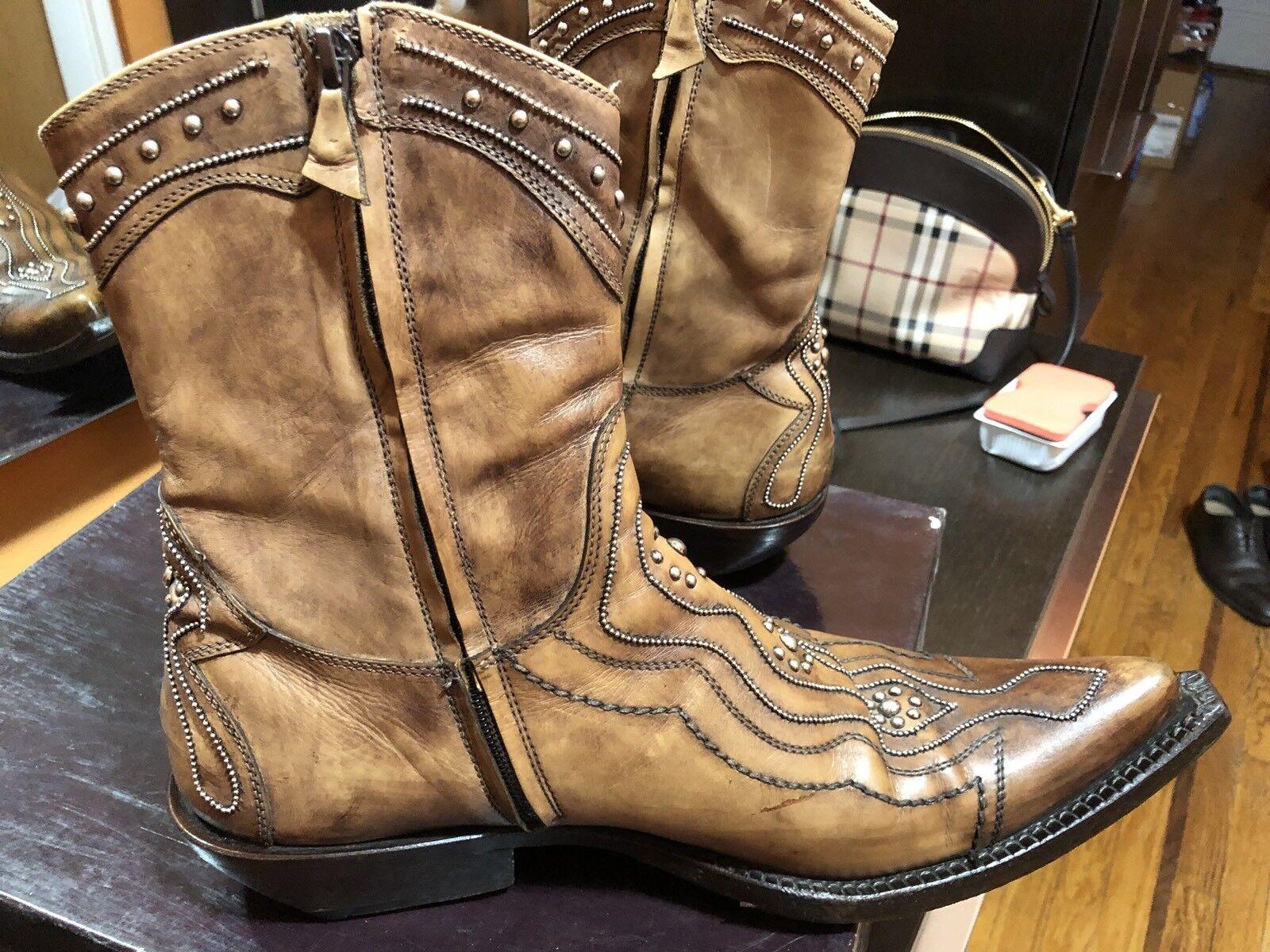 DAMY Western Cowboy Cowboy Cowboy Stivali Uomo's Size 9.5 69e7dd