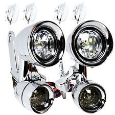 Kuryakyn Fairing Mounted Gloss Black Driving Lights Passing Lamps Harley 97-13
