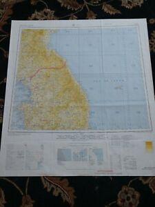1964-Map-of-Seoul-Korea-DMZ-North-and-South-Korea-Kaesong-Wonju-Hungnam-Inch-039-on